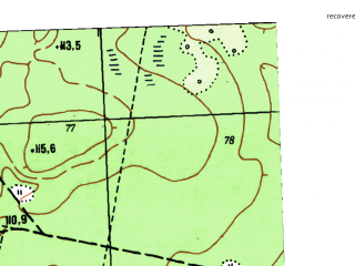 Reduced fragment of topographic map ru--gs--025k--o41-065-1-4--N058-15_E062-07-30--N058-10_E062-15-00