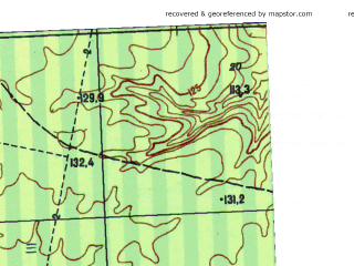 Reduced fragment of topographic map ru--gs--025k--o41-066-3-1--N058-10_E062-30-00--N058-05_E062-37-30