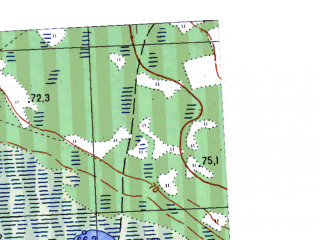 Reduced fragment of topographic map ru--gs--025k--o41-068-3-1--N058-10_E063-30-00--N058-05_E063-37-30