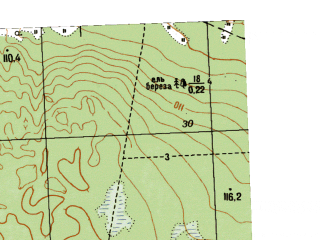Reduced fragment of topographic map ru--gs--025k--o41-077-4-4--N057-45_E062-22-30--N057-40_E062-30-00
