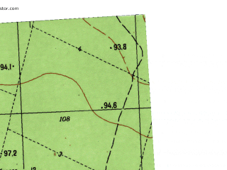 Reduced fragment of topographic map ru--gs--025k--o41-081-1-4--N057-55_E064-07-30--N057-50_E064-15-00