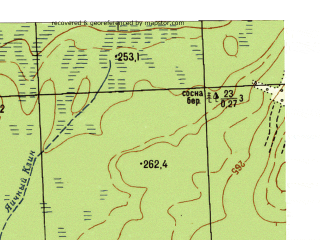 Reduced fragment of topographic map ru--gs--025k--o41-098-1-2--N057-20_E060-37-30--N057-15_E060-45-00