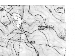 Reduced fragment of topographic map ru--gs--025k--o41-098-4-4--N057-05_E060-52-30--N057-00_E061-00-00; towns and cities Monetnyy