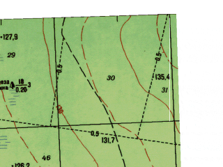 Reduced fragment of topographic map ru--gs--025k--o41-101-3-1--N057-10_E062-00-00--N057-05_E062-07-30