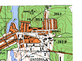 Reduced fragment of topographic map ru--gs--025k--o41-110-2-3--N056-55_E060-45-00--N056-50_E060-52-30; towns and cities Berezovskiy