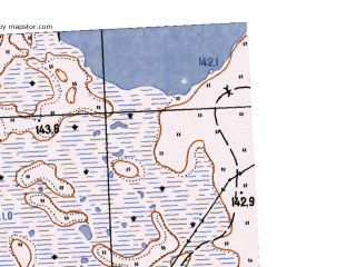 Reduced fragment of topographic map ru--gs--025k--o41-127-4-2--N056-30_E063-22-30--N056-25_E063-30-00