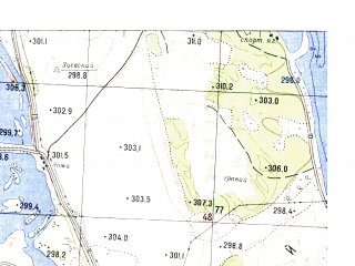 Reduced fragment of topographic map ru--gs--025k--o47-144-2-1--N056-20_E101-45-00--N056-15_E101-52-30; towns and cities Osinovka