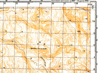 Reduced fragment of topographic map ru--gs--050k--h36-047-4--N030-50_E035-15--N030-40_E035-30