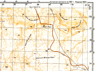Reduced fragment of topographic map ru--gs--050k--h36-070-2--N030-20_E034-45--N030-10_E035-00