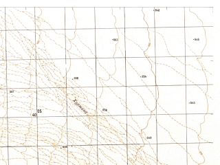 Reduced fragment of topographic map ru--gs--050k--h41-002-2--N032-00_E060-45--N031-50_E061-00