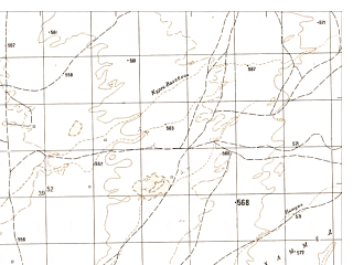Reduced fragment of topographic map ru--gs--050k--h41-003-2--N032-00_E061-15--N031-50_E061-30