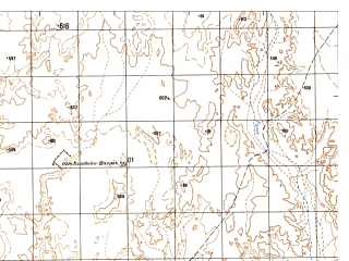 Reduced fragment of topographic map ru--gs--050k--h41-004-2--N032-00_E061-45--N031-50_E062-00; towns and cities Chah-e Kerten