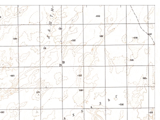 Reduced fragment of topographic map ru--gs--050k--h41-004-4--N031-50_E061-45--N031-40_E062-00