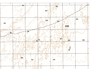 Reduced fragment of topographic map ru--gs--050k--h41-005-1--N032-00_E062-00--N031-50_E062-15