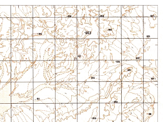 Reduced fragment of topographic map ru--gs--050k--h41-005-4--N031-50_E062-15--N031-40_E062-30