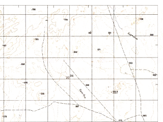 Reduced fragment of topographic map ru--gs--050k--h41-006-4--N031-50_E062-45--N031-40_E063-00