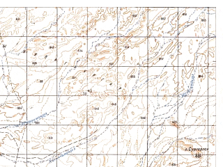 Reduced fragment of topographic map ru--gs--050k--h41-007-2--N032-00_E063-15--N031-50_E063-30