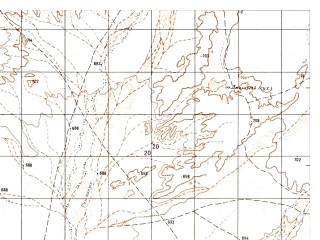 Reduced fragment of topographic map ru--gs--050k--h41-007-3--N031-50_E063-00--N031-40_E063-15