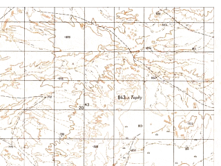 Reduced fragment of topographic map ru--gs--050k--h41-007-4--N031-50_E063-15--N031-40_E063-30