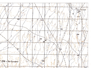 Reduced fragment of topographic map ru--gs--050k--h41-008-2--N032-00_E063-45--N031-50_E064-00; towns and cities Tall Kala