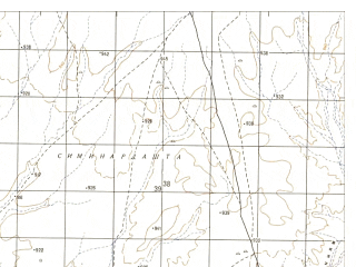 Reduced fragment of topographic map ru--gs--050k--h41-009-2--N032-00_E064-15--N031-50_E064-30