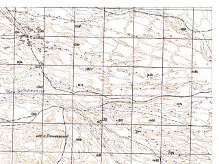 Reduced fragment of topographic map ru--gs--050k--h41-011-1--N032-00_E065-00--N031-50_E065-15