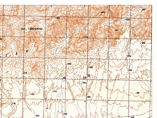Reduced fragment of topographic map ru--gs--050k--h41-011-3--N031-50_E065-00--N031-40_E065-15