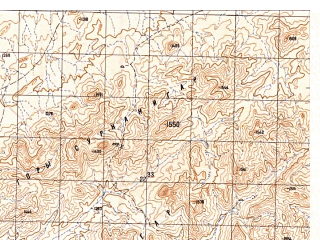 Reduced fragment of topographic map ru--gs--050k--h41-011-4--N031-50_E065-15--N031-40_E065-30; towns and cities Lalak