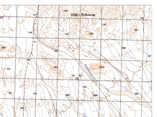 Reduced fragment of topographic map ru--gs--050k--h41-012-3--N031-50_E065-30--N031-40_E065-45