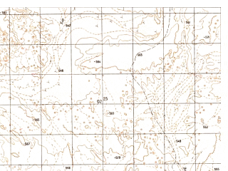 Reduced fragment of topographic map ru--gs--050k--h41-017-1--N031-40_E062-00--N031-30_E062-15