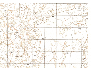 Reduced fragment of topographic map ru--gs--050k--h41-017-2--N031-40_E062-15--N031-30_E062-30