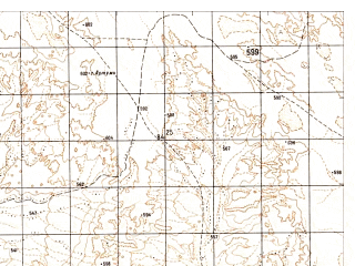 Reduced fragment of topographic map ru--gs--050k--h41-017-3--N031-30_E062-00--N031-20_E062-15
