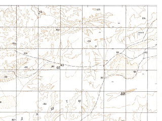 Reduced fragment of topographic map ru--gs--050k--h41-019-2--N031-40_E063-15--N031-30_E063-30