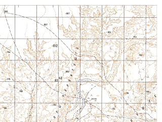 Reduced fragment of topographic map ru--gs--050k--h41-019-4--N031-30_E063-15--N031-20_E063-30