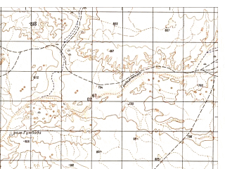 Reduced fragment of topographic map ru--gs--050k--h41-020-1--N031-40_E063-30--N031-30_E063-45