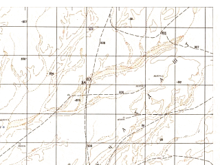 Reduced fragment of topographic map ru--gs--050k--h41-020-3--N031-30_E063-30--N031-20_E063-45