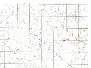 Reduced fragment of topographic map ru--gs--050k--h41-021-3--N031-30_E064-00--N031-20_E064-15