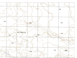Reduced fragment of topographic map ru--gs--050k--h41-021-4--N031-30_E064-15--N031-20_E064-30; towns and cities Aynak
