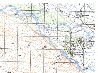 Reduced fragment of topographic map ru--gs--050k--h41-023-3--N031-30_E065-00--N031-20_E065-15