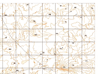 Reduced fragment of topographic map ru--gs--050k--h41-030-2--N031-20_E062-45--N031-10_E063-00