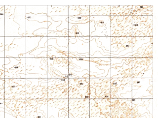 Reduced fragment of topographic map ru--gs--050k--h41-030-4--N031-10_E062-45--N031-00_E063-00