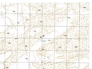 Reduced fragment of topographic map ru--gs--050k--h41-033-2--N031-20_E064-15--N031-10_E064-30
