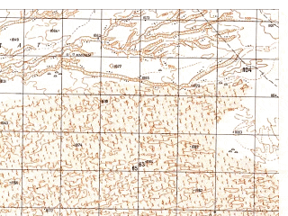 Reduced fragment of topographic map ru--gs--050k--h41-034-1--N031-20_E064-30--N031-10_E064-45