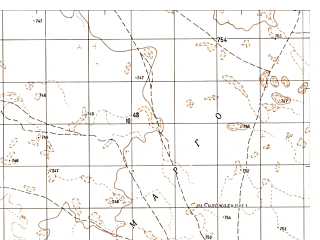 Reduced fragment of topographic map ru--gs--050k--h41-041-4--N030-50_E062-15--N030-40_E062-30
