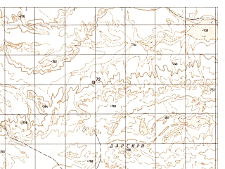 Reduced fragment of topographic map ru--gs--050k--h41-042-3--N030-50_E062-30--N030-40_E062-45