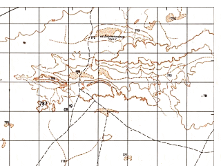 Reduced fragment of topographic map ru--gs--050k--h41-043-3--N030-50_E063-00--N030-40_E063-15