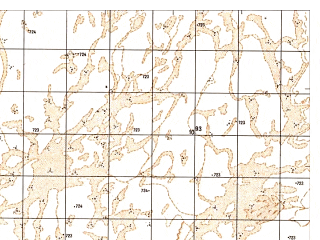 Reduced fragment of topographic map ru--gs--050k--h41-044-4--N030-50_E063-45--N030-40_E064-00