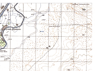 Reduced fragment of topographic map ru--gs--050k--h41-045-1--N031-00_E064-00--N030-50_E064-15