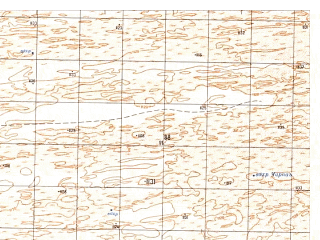 Reduced fragment of topographic map ru--gs--050k--h41-046-4--N030-50_E064-45--N030-40_E065-00