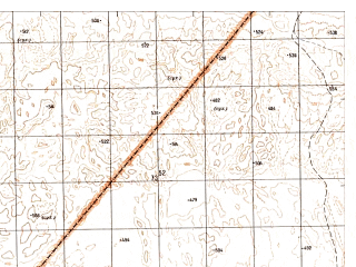 Reduced fragment of topographic map ru--gs--050k--h41-051-4--N030-30_E061-15--N030-20_E061-30